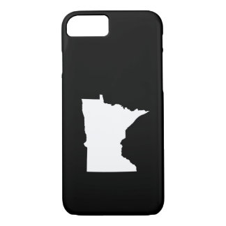 Minnesota in White and Black iPhone 7 Case