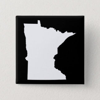 Minnesota in White and Black Pinback Button
