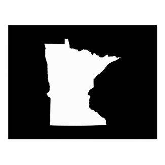 Minnesota in White and Black Postcard