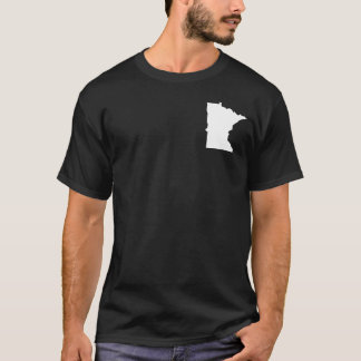 Minnesota in White and Black T-Shirt