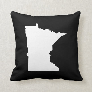 Minnesota in White and Black Throw Pillow