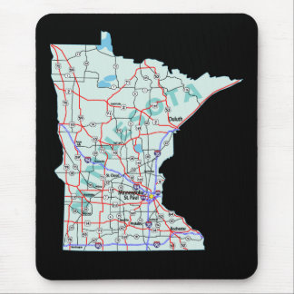Minnesota Interstate Map Mousepad