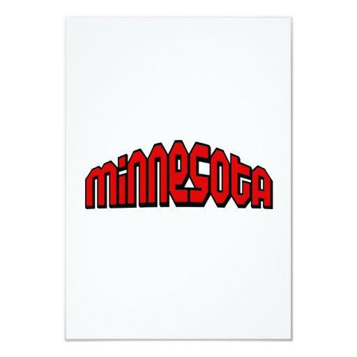 Minnesota Invitación 8,9 X 12,7 Cm