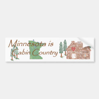 Minnesota is Cabin Country Bumper Sticker