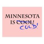 Minnesota is Cool - and Cold! Postcard