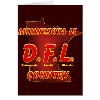 Minnesota Is D.F.L. Country Card