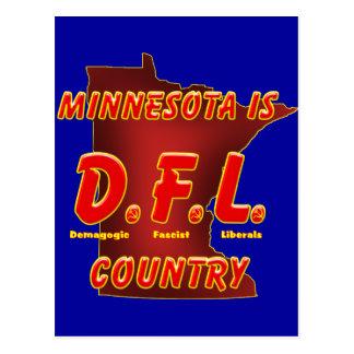 Minnesota Is D.F.L. Country Postcard