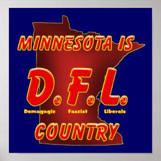 Minnesota Is D.F.L. Country Print