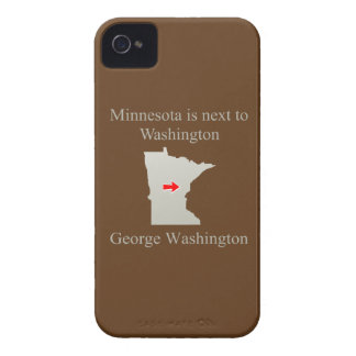 Minnesota is next to Washington iPhone 4 Case
