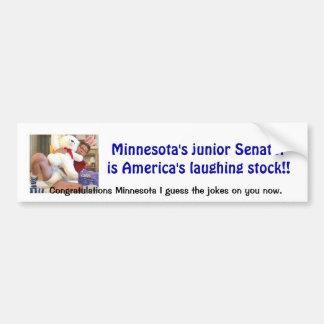 Minnesota Joke Car Bumper Sticker