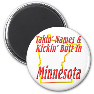 Minnesota - Kickin' Butt 2 Inch Round Magnet