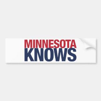 Minnesota Knows Bumper Sticker