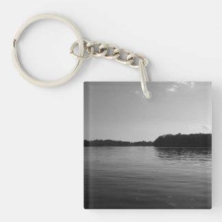 Minnesota Lake Photography Keychain Landscape Art Square Acrylic Keychain
