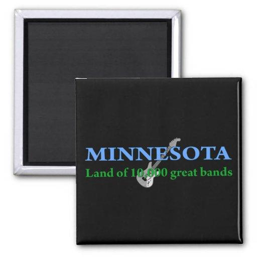 Minnesota - Land of 10,000 Bands Refrigerator Magnets