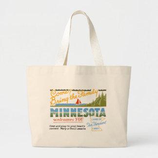 Minnesota - Land of Ten Thousand Lakes Jumbo Tote Bag