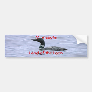 Minnesota land of the Loon Car Bumper Sticker