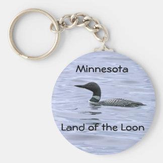 Minnesota Land of the Loon Keychain