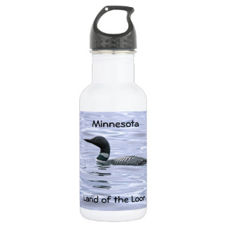 Minnesota Land of the Loon Stainless Steel Water Bottle