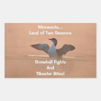 Minnesota...Land of Two Seasons Rectangular Sticker