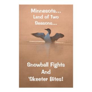 Minnesota...Land of Two Seasons Stationery
