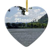 Minnesota Landscape Ceramic Ornament