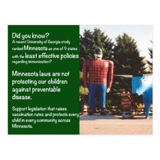 Minnesota Laws Immunization Postcard