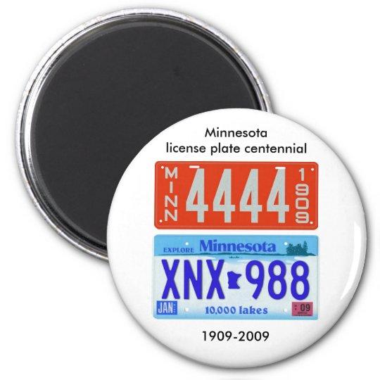 Minnesota license plate centennial magnet