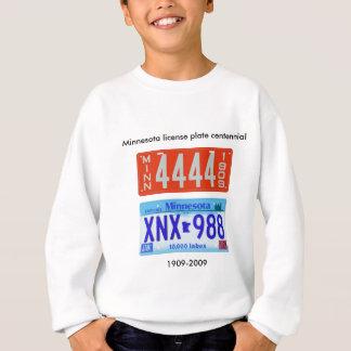 Minnesota license plate centennial sweatshirt