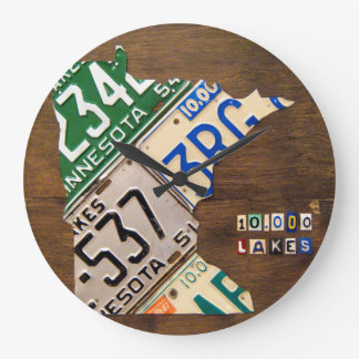 Minnesota License Plate Map Clock