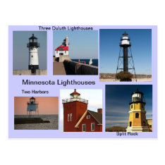 Minnesota Lighthouses Postcard at Zazzle