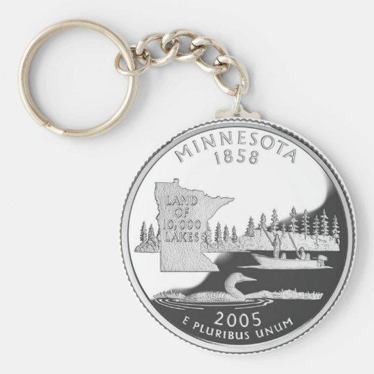 Minnesota Llavero Redondo Tipo Pin