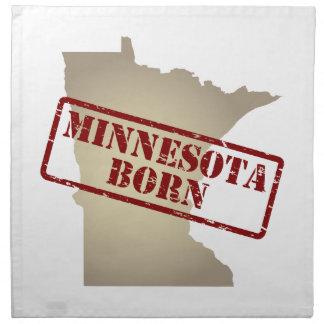 Minnesota llevado - sello en mapa servilleta imprimida