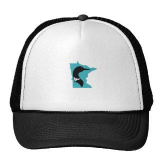 Minnesota Loon Black on Teal Trucker Hat