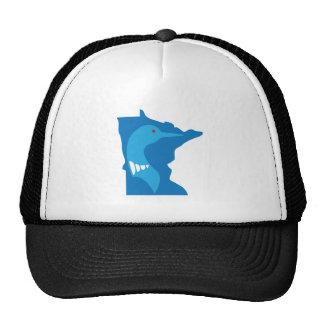 Minnesota Loon Blue on Blue Trucker Hat
