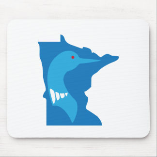 Minnesota Loon Blue on Blue Mouse Pad