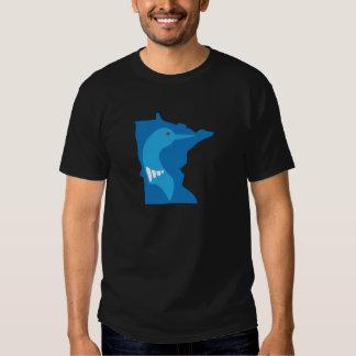 Minnesota Loon Blue on Blue T Shirt