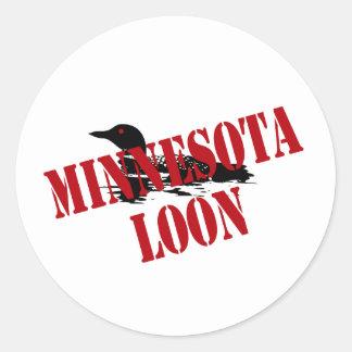 Minnesota Loon Classic Round Sticker