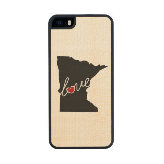 Minnesota Love!  Gifts for MN Lovers Wood Phone Case For iPhone SE/5/5s