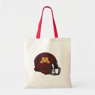 Minnesota M Football Helmet Budget Tote Bag