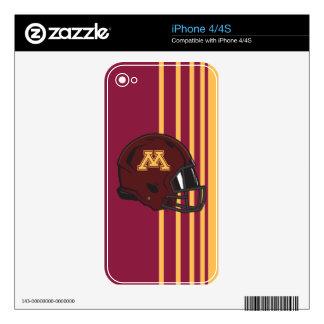 Minnesota M Football Helmet iPhone 4S Skin