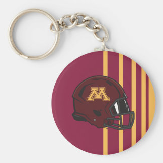 Minnesota M Football Helmet Keychain