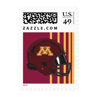 Minnesota M Football Helmet Postage Stamps