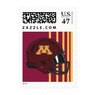 Minnesota M Football Helmet Stamp