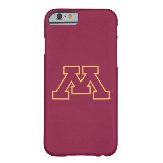 Minnesota M marrón Funda De iPhone 6 Barely There