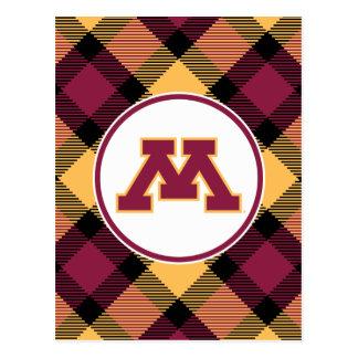 Minnesota M marrón Postal