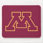 Minnesota M marrón Tapete De Ratones