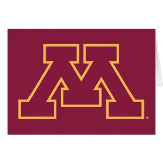 Minnesota M marrón Tarjeta Pequeña
