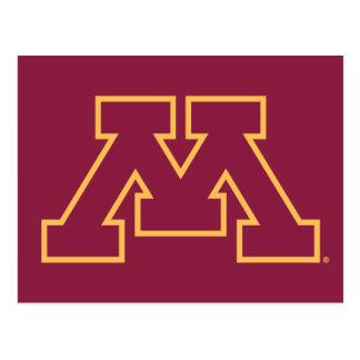 Minnesota M marrón Tarjetas Postales