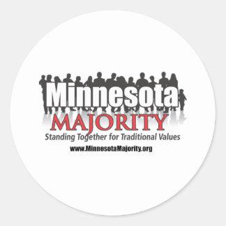 Minnesota Majority Classic Round Sticker