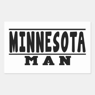 Minnesota Man Designs Rectangular Sticker